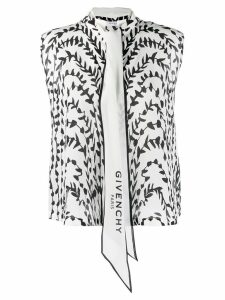 Givenchy printed pussy bow blouse - White