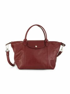 Small Le Pliage Leather Top Handle Bag