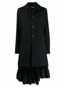 Comme Des Garçons Comme Des Garçons ruffle detail coat - Black