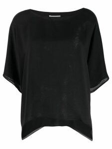 Dusan boat neck blouse - Black