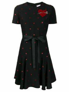 Red Valentino RED(V) sequined heart print dress - Black