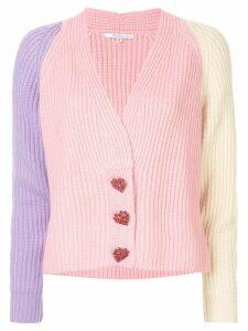 Olivia Rubin pastel colour block cardigan - Pink