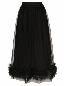Molly Goddard Leonie tulle ruffle hem skirt - Black