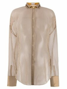 Brunello Cucinelli striped shirt - Brown