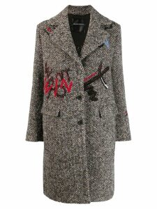 Ermanno Scervino Bouclé wool coat - Grey