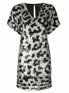 Aidan Mattox sequined short dress - Black