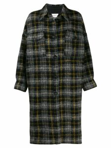Isabel Marant Étoile checked pattern coat - Black
