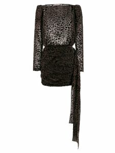 Giuseppe Di Morabito ruched leopard print dress - Black