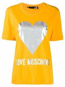 Love Moschino printed logo T-shirt - Yellow