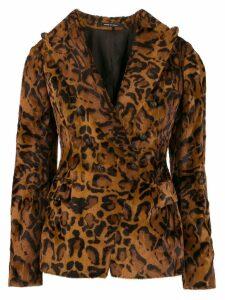 Tagliatore leopard print blazer - Brown