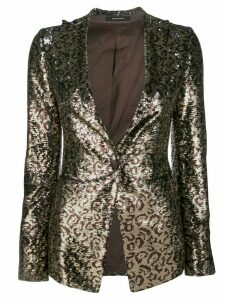 Tagliatore leopard print sequin embroidered blazer - Metallic