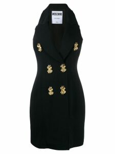 Moschino dollar sign vest style dress - Black
