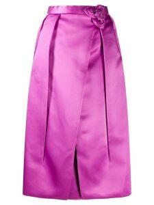 Prada corsage detail inverted pleat skirt - PINK