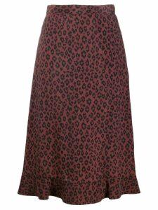 A.P.C. leopard print skirt - Brown