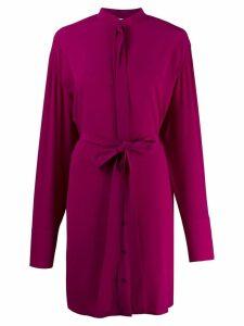 Stella McCartney silk pussy bow detail dress - Purple