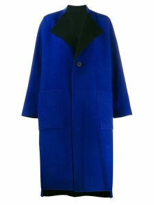 Issey Miyake single-breasted coat - Blue