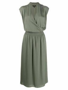 Theory draped combo dress - Green
