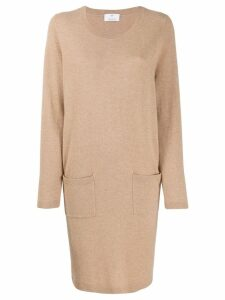Allude fine knit sweater dress - Brown