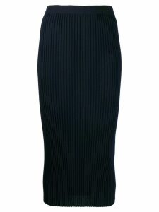 MRZ ribbed wool skirt - Blue