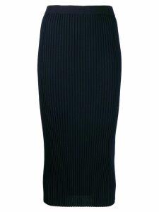 MRZ ribbed wool skirt - Blue