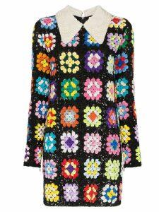 Ashish patchwork crochet mini dress - Multicolour