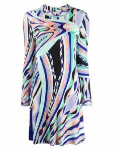 Emilio Pucci abstract print dress - PURPLE