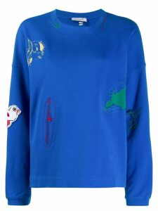 Mira Mikati bird patch sweatshirt - Blue