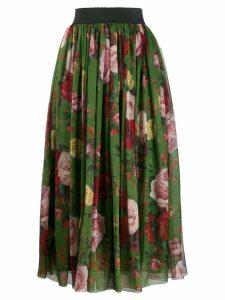 Dolce & Gabbana floral print midi skirt - Green