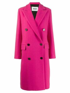 MSGM double-breasted coat - Pink
