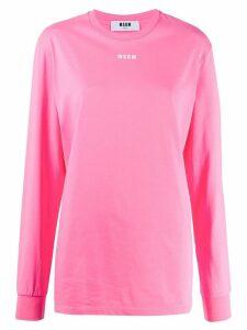 MSGM logo long-sleeved T-shirt - Pink