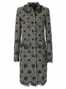 Giambattista Valli woven tweed coat - Black
