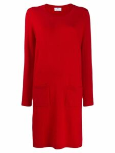Allude fine knit sweater dress - Red