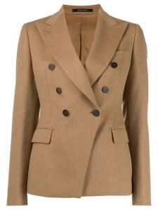 Tagliatore double-breasted camel hair coat - Brown