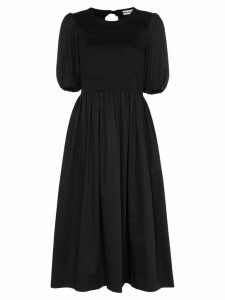 Molly Goddard Rory pouf sleeve midi dress - Black