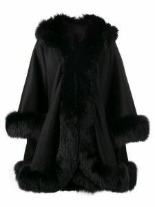 Liska oversized hooded coat - Black