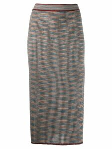 M Missoni Shot knit midi skirt - Grey