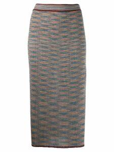 M Missoni Shot knit midi skirt - Grey