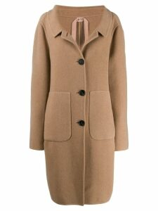 Nº21 single-breasted over coat - Brown