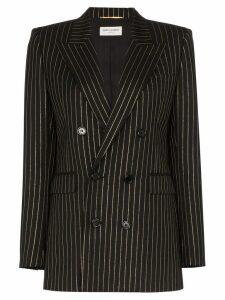 Saint Laurent pinstripe double-breasted blazer - Black