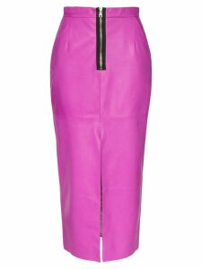 Natasha Zinko high-waisted leather pencil skirt - Pink