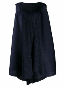 Pleats Please By Issey Miyake pleated cape dress - Blue