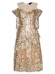 Simone Rocha ruffled sequin dress - Gold