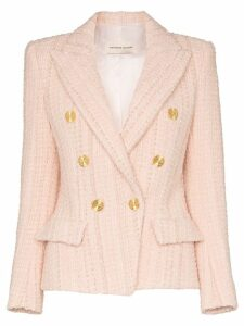 Alexandre Vauthier double-breasted tweed blazer - Pink
