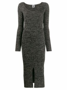 M Missoni ribbed knit long dress - Grey