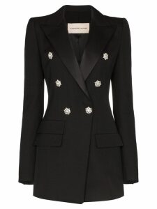 Alexandre Vauthier double-breasted crystal detail blazer - Black
