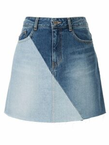 SJYP panelled denim skirt - Blue