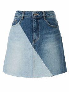 SJYP panelled denim skirt - Blue