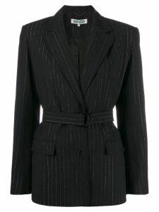 Kenzo pinstripe belted blazer - Black