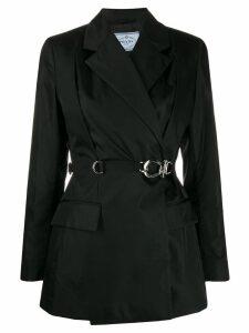 Prada buckle fastening blazer - Black