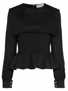Molly Goddard Lucy peplum hem top - Black